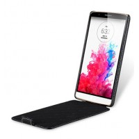 Кожаный чехол вертикальная книжка для LG G3 S Черный