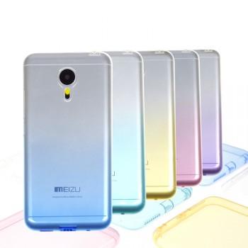 Силиконовый градиентный полупрозрачный чехол для Meizu Pro 5