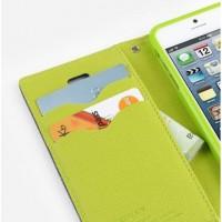 Текстурный чехол портмоне подставка на силиконовой основе с дизайнерской защелкой для HTC Desire 728 Зеленый