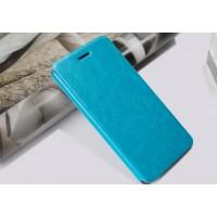 Чехол флип подставка водоотталкивающий для HTC Desire 728 Голубой