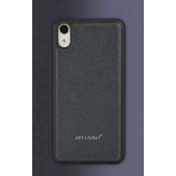 Гибридный силиконовый чехол текстура Кожа для HTC Desire 728