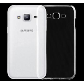 Силиконовый глянцевый транспарентный чехол для Samsung Galaxy J7