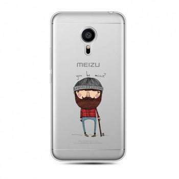 Силиконовый дизайнерский транспарентный чехол с принтом для Meizu Pro 5