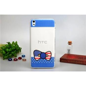 Силиконовый матовый дизайнерский чехол с эксклюзивной серией принтов для HTC Desire 816
