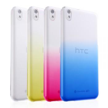 Пластиковый градиентный полупрозрачный чехол для HTC Desire 816