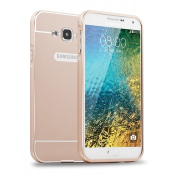 Двухкомпонентный чехол с металлическим бампером и поликарбонатной накладкой с отверстием для логотипа для Samsung Galaxy J7