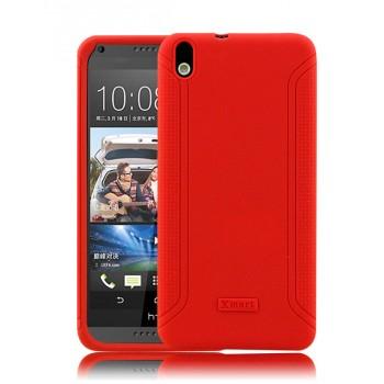 Силиконовый матовый непрозрачный нескользящий чехол для HTC Desire 816