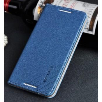 Чехол флип подставка на пластиковой основе с отделением для карт для HTC Desire 816