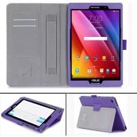 Чехол подставка с рамочной защитой экрана, внутренними отсеками и поддержкой кисти для ASUS ZenPad S 8 Фиолетовый