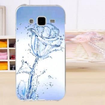 Силиконовый матовый чехол с принтом для Samsung Galaxy J7