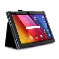 Чехол подставка с рамочной защитой экрана, внутренними отсеками и поддержкой кисти для ASUS ZenPad 10 Черный
