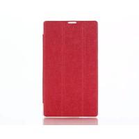 Чехол флип подставка сегментарный на поликарбонатной основе для ASUS ZenPad C 7.0 Красный