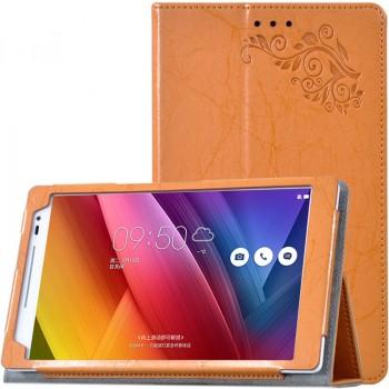 Чехол подставка с рамочной защитой экрана и рельефным эскизом для ASUS ZenPad 8