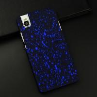 Пластиковый матовый непрозрачный чехол с голографическим принтом Звезды для Huawei ShotX Синий