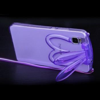 Силиконовый дизайнерский фигурный чехол Заяц со складными ушами для Huawei ShotX