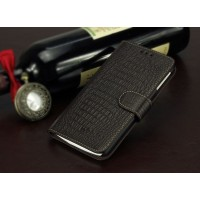 Кожаный чехол портмоне (нат. кожа крокодила) для Lenovo Vibe X Коричневый
