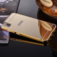 Двухкомпонентный чехол с металлическим бампером и поликарбонатной накладкой с зеркальным покрытием для Huawei ShotX