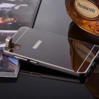 Двухкомпонентный чехол с металлическим бампером и поликарбонатной накладкой с зеркальным покрытием для Huawei ShotX Черный