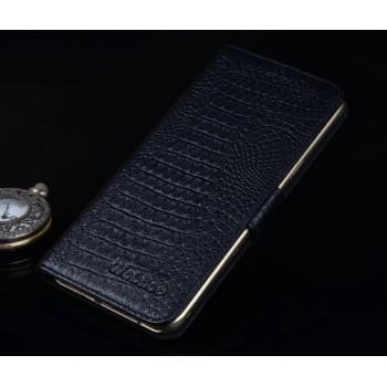 Кожаный чехол портмоне подставка (премиум нат. Кожа крокодила) на пластиковой основе на магнитной защелке для Huawei ShotX