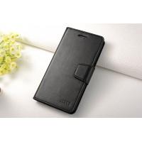Чехол портмоне подставка на силиконовой основе на магнитной защелке для Samsung Galaxy J7 Черный