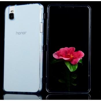 Двухкомпонентный силиконовый чехол горизонтальная книжка с акриловой полноразмерной транспарентной смарт крышкой для Huawei ShotX