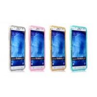 Двухкомпонентный силиконовый чехол горизонтальная книжка с акриловой полноразмерной транспарентной смарт крышкой для Samsung Galaxy J7