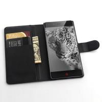 Чехол портмоне подставка с защелкой для ZTE Nubia Z9 Mini Черный