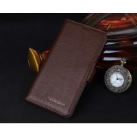 Кожаный чехол горизонтальная книжка (нат. кожа) с крепежной застежкой для ZTE Nubia Z9 Mini