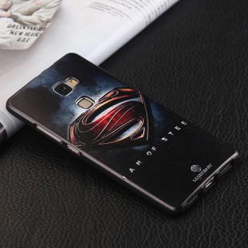 Силиконовый матовый непрозарчый чехол с принтом для Huawei Mate S