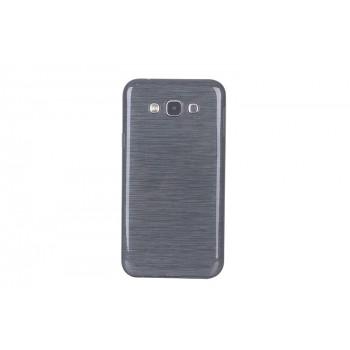 Силиконовый полупрозрачный чехол текстура Металлик для Samsung Galaxy J7