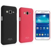 Пластиковый матовый непрозрачный чехол с повышенной шероховатостью для Samsung Galaxy J7