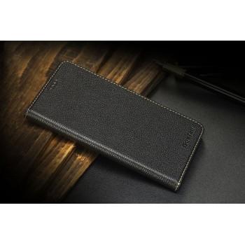 Кожаный чехол флип (премиум нат. вощеная Кожа) на пластиковой основе для Huawei Mate S