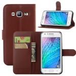 Чехол портмоне подставка на пластиковой основе на магнитной защелке для Samsung Galaxy J5