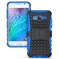 Противоударный двухкомпонентный чехол с поликарбонатной накладкой экстрим защита для Samsung Galaxy J5 Синий