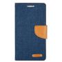 Чехол портмоне подставка на силиконовой основе с тканевым покрытием на магнитной защелке для Samsung Galaxy J5