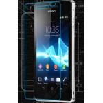 Ультратонкое износоустойчивое сколостойкое олеофобное защитное стекло-пленка для Sony Xperia V