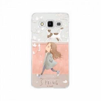 Силиконовый матовый чехол с принтом для Samsung Galaxy J5