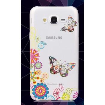 Силиконовый матовый полупрозрачный чехол с принтом для Samsung Galaxy J5