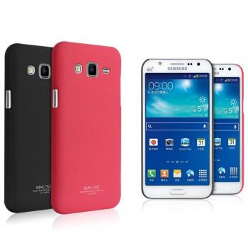 Пластиковый матовый непрозрачный чехол с повышенной шероховатостью для Samsung Galaxy J5