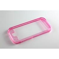 Силиконовый полупрозрачный бампер для Yotaphone 2 Розовый