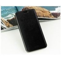 Глянцевый водоотталкивающий чехол флип подставка на силиконовой основе для Samsung Galaxy J5 Черный