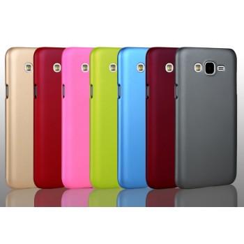Пластиковый матовый непрозрачный металлик чехол для Samsung Galaxy J5