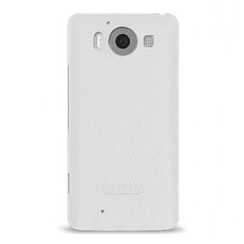 Кожаный чехол накладка (нат. кожа) для Microsoft Lumia 950