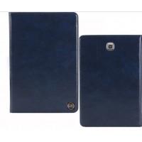 Кожаный чехол подставка на поликарбонатной непрозрачной основе для Samsung Galaxy Tab A 9.7 Синий