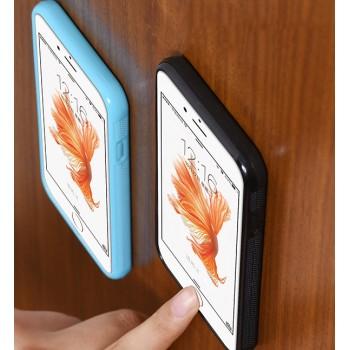 Эксклюзивный двухкомпонентный противоударный чехол силикон/поликарбонат с липучей задней поверхностью для Iphone 6 Plus/6s Plus