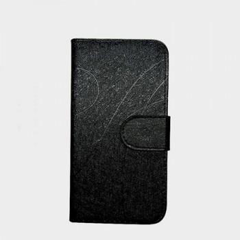 Чехол флип подставка на силиконовой основе с отделением для карт текстура Линии для Phicomm Energy 653