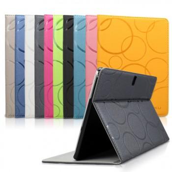 Чехол книжка подставка текстура Узоры на поликарбонатной основе для Samsung Galaxy Tab A 8