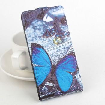 Чехол вертикальная книжка на пластиковой основе с магнитной застежкой и полноповерхностным принтом для Alcatel One Touch POP 3 5