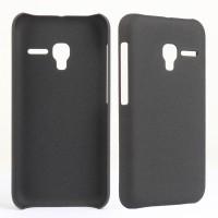 Пластиковый матовый непрозрачный чехол для Alcatel One Touch Pixi 3 (4.5) Черный