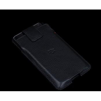Кожаный мешок с магнитным язычком и крепежом на пояс для Blackberry Priv